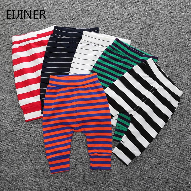 Pants Newborn Baby-Girl Winter Leggings Trousers Toddler Cartoon Striped Unisex For Children's