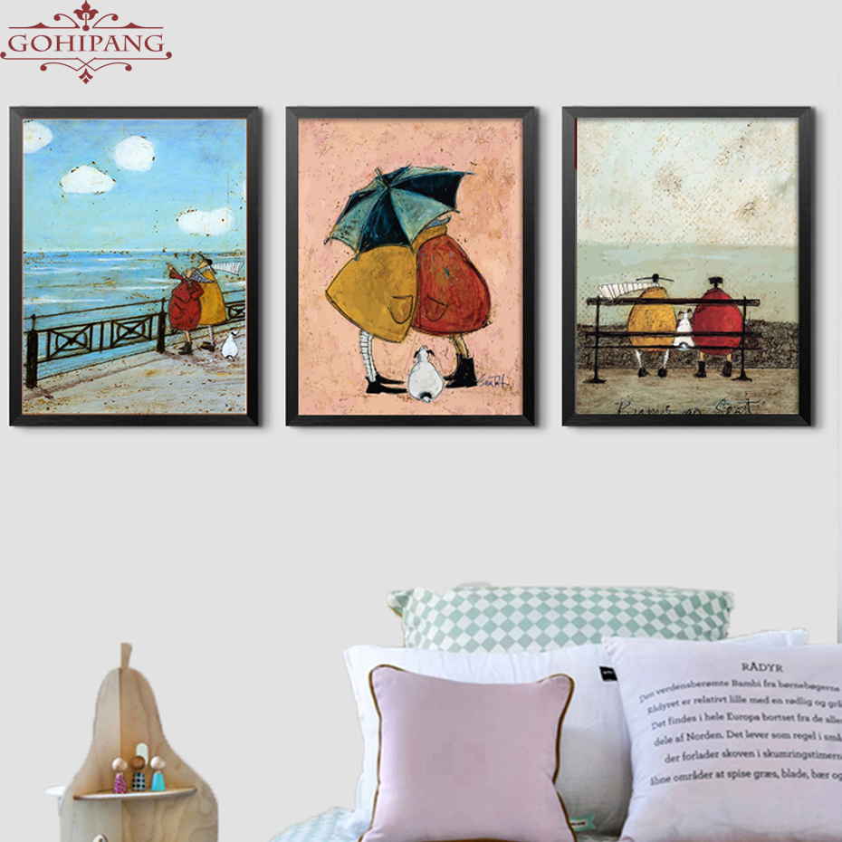 HTB144h5BsyYBuNkSnfoq6AWgVXau Gohipang Happy Family Abstract Love Canvas Painting Vintage Posters Prints Scandinavian Nordic Wall Art Picture For Bedroom Home
