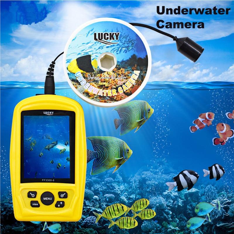 FF3308-8 Portable Underwater Fishing & Inspection Camera System CMD Sensor 3.5 inch TFT RGB Monitor FishSea 20M Cable цена 2017