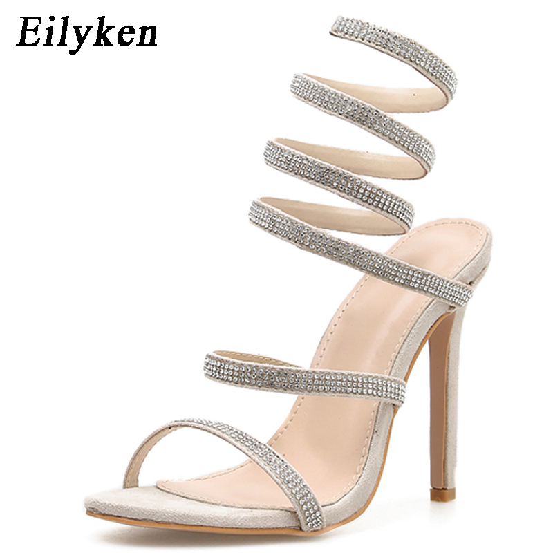 Eilyken 2019 New Womens Summer Sandals Ankle Strap High Heels Platform Crystal Design Sexy Party Shoes For Women Size 35-40Eilyken 2019 New Womens Summer Sandals Ankle Strap High Heels Platform Crystal Design Sexy Party Shoes For Women Size 35-40