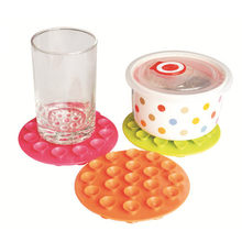 SUEF 1PCS New Baby Feeding Bowl Cup Anti Slip Placemat Double Sided 19 Suction Sucker Mat Pads Tableware Fixed Non Slip @2(China)