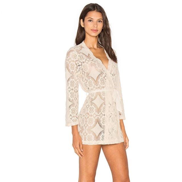 Encaje Chemise Bata Corta de La Vendimia Cómodas Pijamas Camisón de Novia Romántica Camisón Kimono Floral
