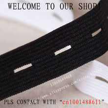 Free shipping The thicken Black Elastic Tape 15mm Width Button Hole Elastic Stretch Webbing Maternity belt 16 Yards/lot