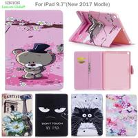 Cover For IPad 9 7 New 2017 Modle SZEGYCHX PU Leather Smart Stand Shell Tablet Case