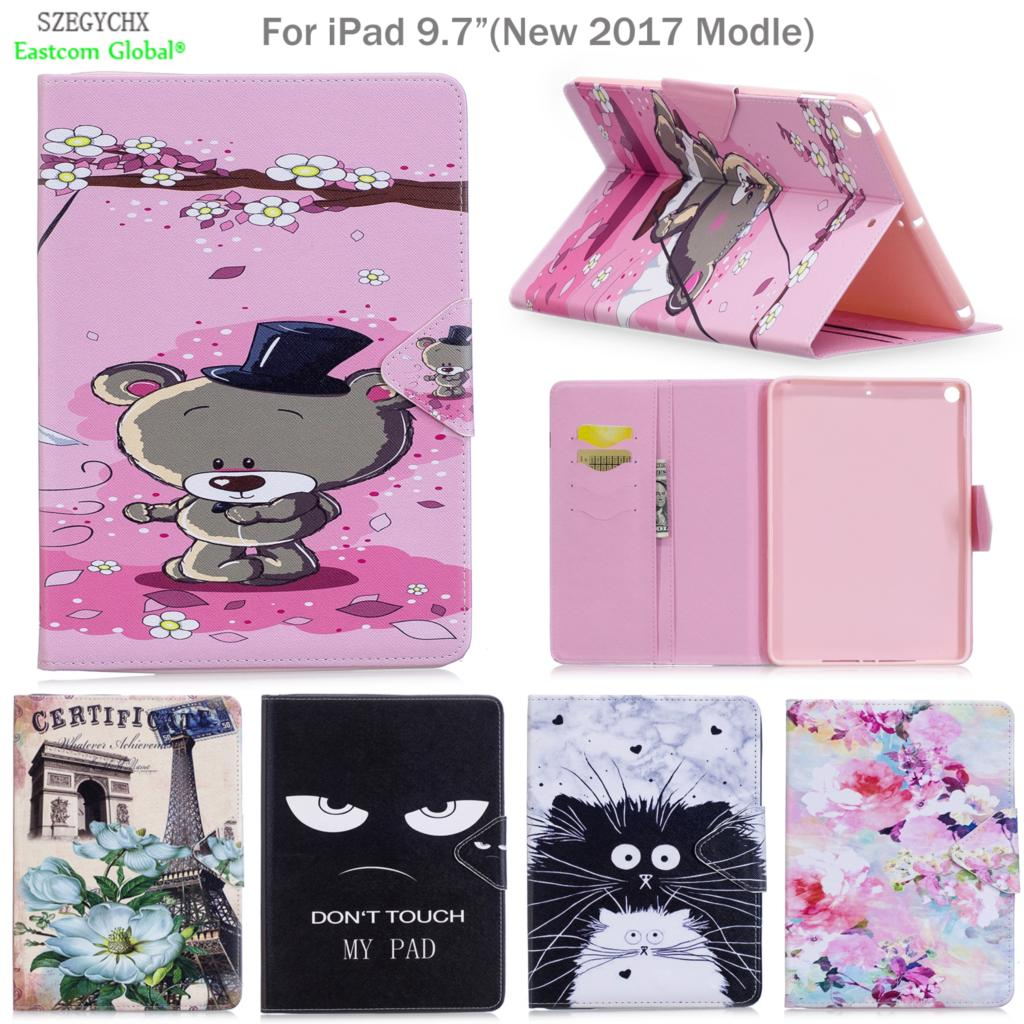 Cover For New iPad 9.7 2017 2018,SZEGYCHX PU Leather Smart Stand Shell Tablet Case For ipad case with Auto Wake Up/Sleep