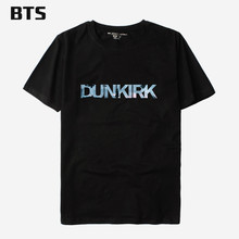 BTS Dunkirk T-shirt Men Funny O Neck Funny Printed Streetwear Tops T Shirts Cool Hipster Brand Summer Style Tee Shirt Men