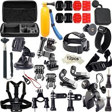 Camera Accessories Kits for Gopro 4/3/2/1 Bundles with Chest Harness Mount/Suction Cup Mount/Selfie Stick/Folating Hand Grip