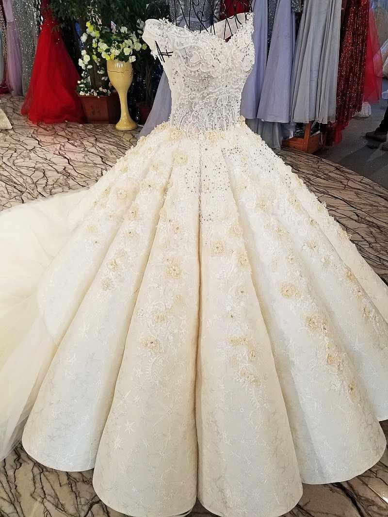 LS54220 Свадебные платья для свадебного шампанского асимметричной юбки длинный поезд новейший дизайн зашнуровать назад 2018 свадебное платье