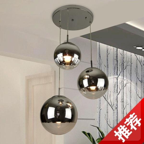 Restaurant Pendelleuchte Licht Schlafzimmer Lampe Wohnzimmer Leuchtet Moderne Kurze Vernickelt Kugel Lampen 8045
