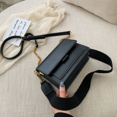 MoneRffi 2019 Women 39 s Single Shoulder Strap Small Square Adjustable Bag Handbag Metal Shoulder Bag in Top Handle Bags from Luggage amp Bags