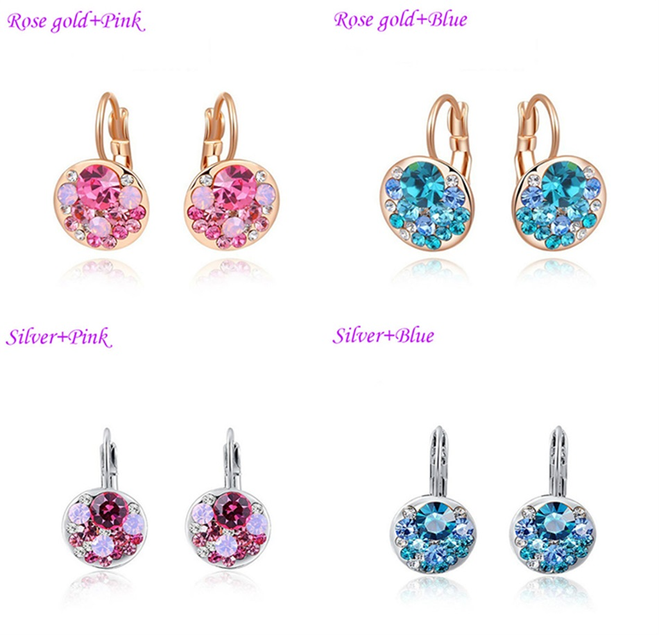 HTB144iKacrrK1RjSspaq6AREXXaY - Luxury Ear Stud Earrings For Women Fashion Round Charm Jewelry Romantic Lovely Accessories Gift Wholesale
