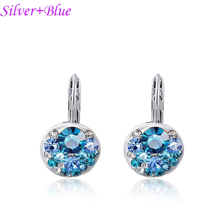 HTB144iKajDuK1RjSszdq6xGLpXaC - Luxury Ear Stud Earrings For Women Fashion Round Charm Jewelry Romantic Lovely Accessories Gift Wholesale