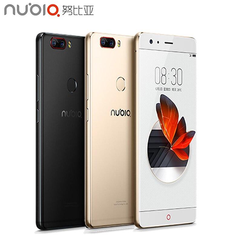 Оригинальный Нубия Z17 сотовый телефон 5.5 «дюймов Экран 8 ГБ Оперативная память 64 ГБ Встроенная память Snapdragon 835 Octa core android 7.1 OS Доль Камера смарт…