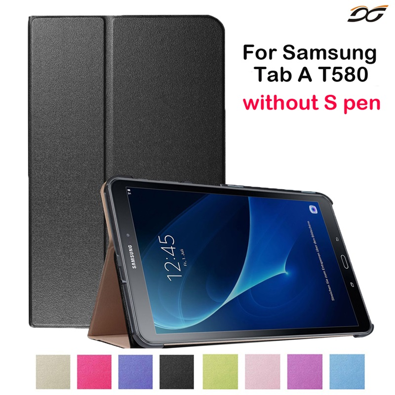 Case for Samsung Galaxy Tab A 2016 6 10.1 inch T580 T585 T587P WIFI 4G LTE Folding Folio Stand Leather Case Cover for Tab 10.1