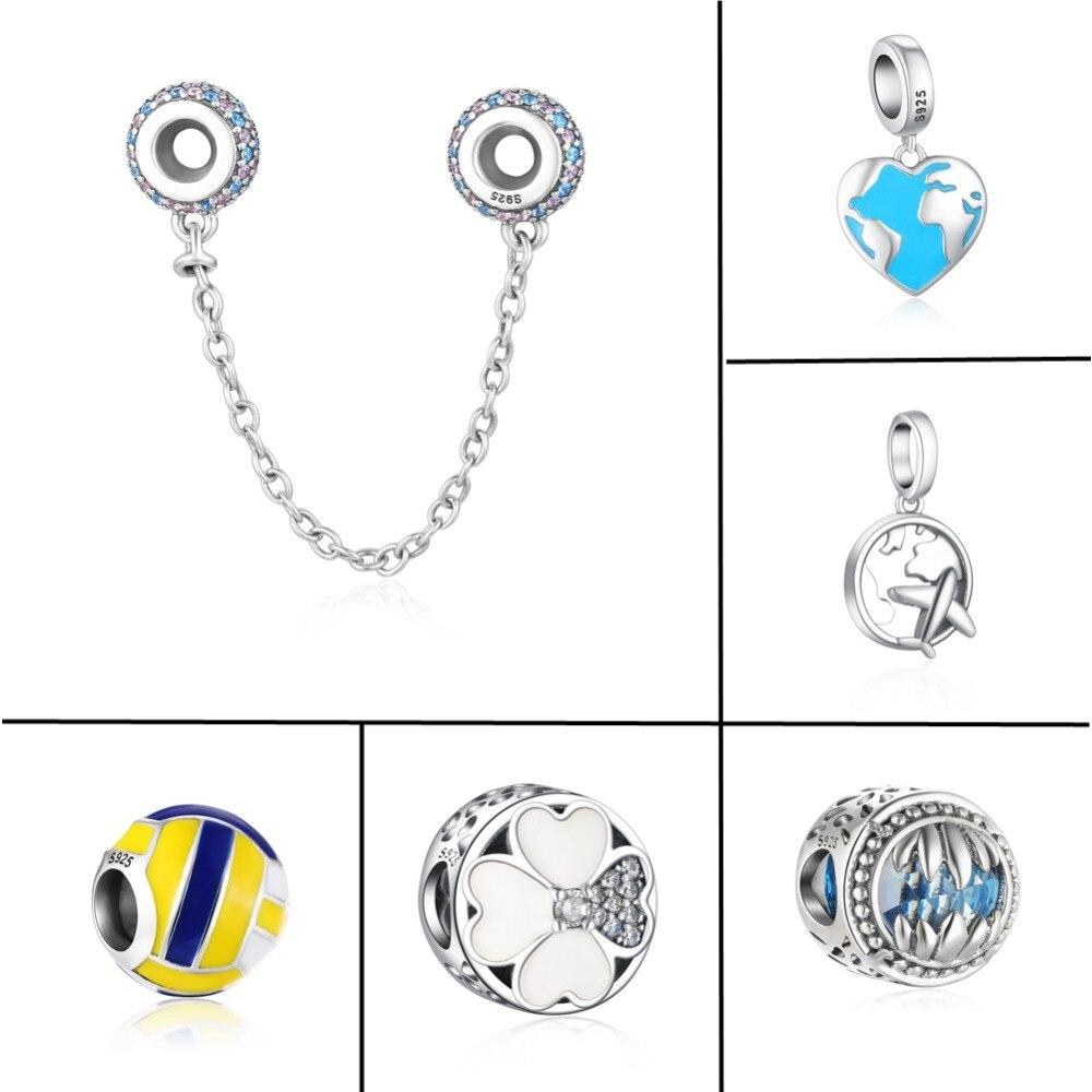 ZMZY New Fresh Antique Original 925 Sterling Silver Charm Mix Travel Beads fit Pandora Charms Bracelet Women Gift Jewelry
