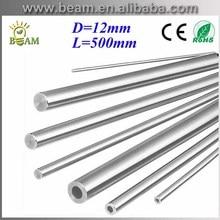 2pcs D12mm L500mm chromed Cylinder Linear Rail Round Rod Shaft Linear Motion guide rail round rod Shaft CNC XYZ Free shipping