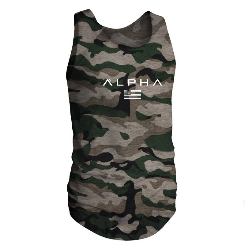 2019 ALPHA Men Summer Gyms Fitness bodybuilding   Tank     Top   Fashion Mens Crossfit Clothing Tight Breathable Sleeveless Shirts Vest