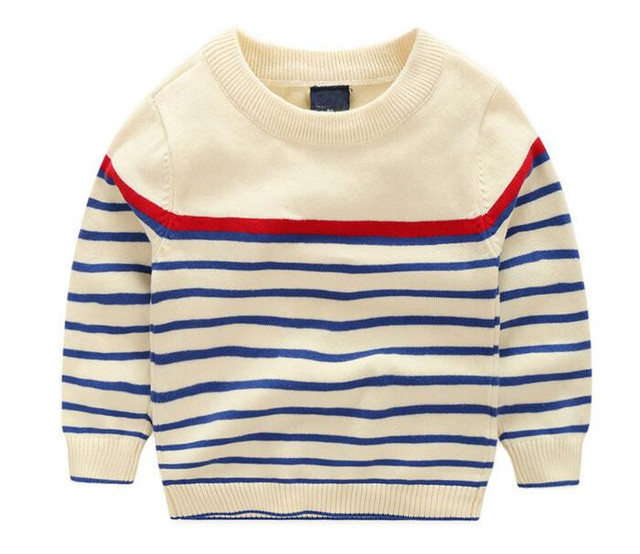 YWG321128 Retail 2016 Autunm Fashon Baby Boy Sweater Striped Toddler Boy Pullover Full Sleeve Boys Clothes Casual