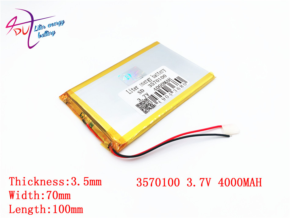 best battery brand Size 3570100 3.7V 4000mah Lithium Tablet polymer battery with Protection Board For 7 inch Tablet PC free shipping 3 7 v 5000 mah tablet battery brand tablet gm lithium polymer battery 3088128