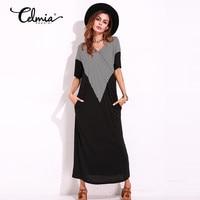 Summer Fashio Maxi Long Dress Women Striped Casual Ruffle Short Sleeve Plus Size Floor Length Dresses
