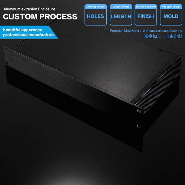 ФОТО High quality AL6063 482*44.5*250mm 19'1U hard Aluminum instrument industry case with flat electronic cabinet