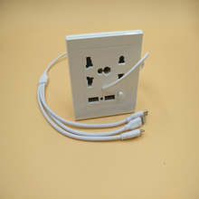 2Pcs 2.1A Dual USB Wall Socket Charger AC/DC Power Adapter Plug Outlet Panel W/Switch jtron dc power outlet switch socket black 10 pcs