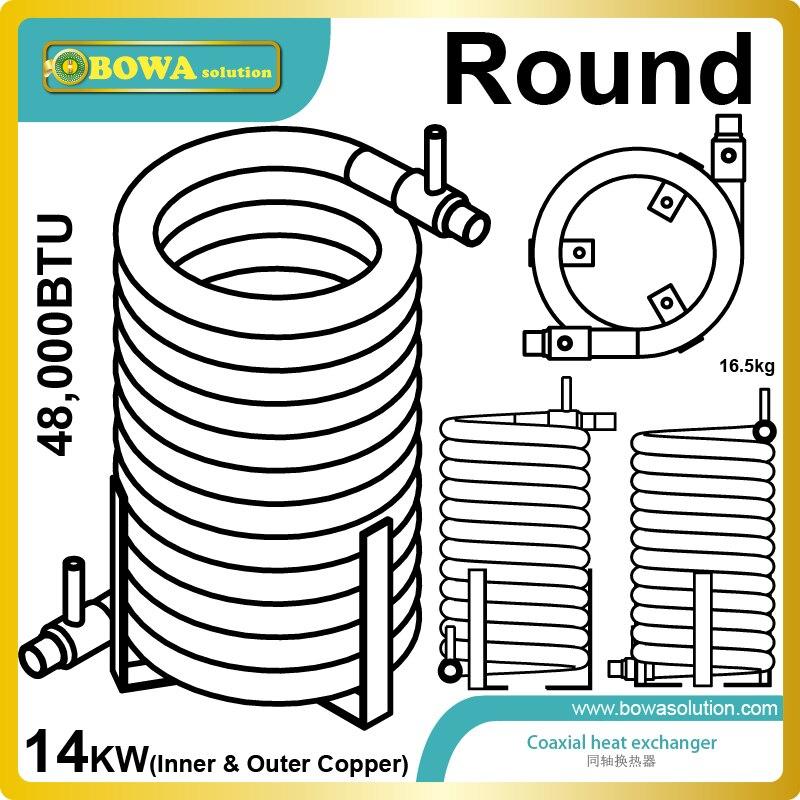 ⑥48000BUT (14KW) alta eficiencia exterior e interior tubo de cobre ...