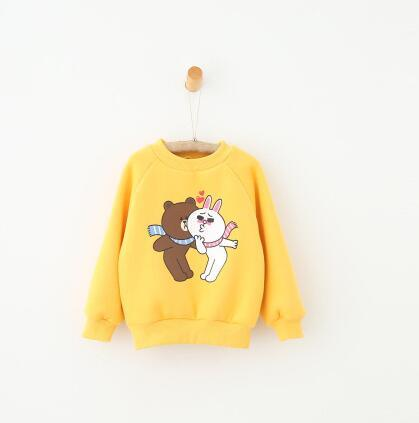 2016 Winter and autumn children clothes pullover children's clothing wholesale boys and girls fleece cartoon printing