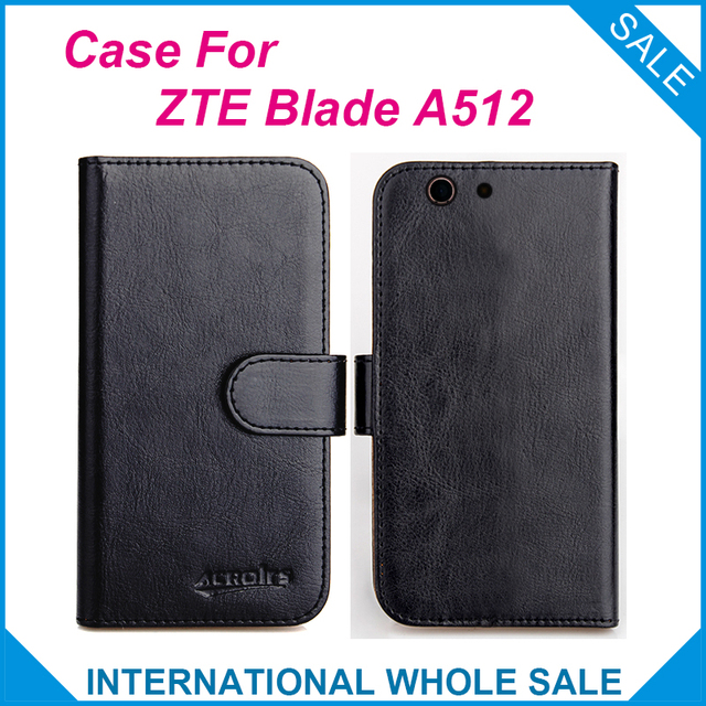 Hot!! 2016 ZTE Blade A512 Case, 6 Colors High Quality Leather Exclusive Cover For ZTE Blade A512  tracking number