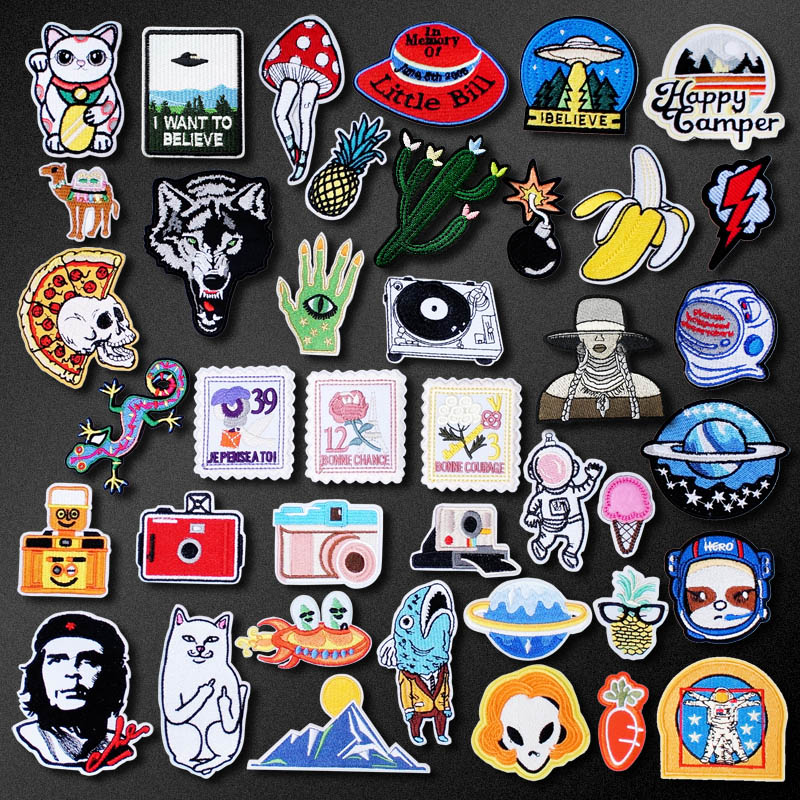 Bomb Lightning Camera Patch for Clothing Iron on Embroidered Sewing Applique Cute Sew