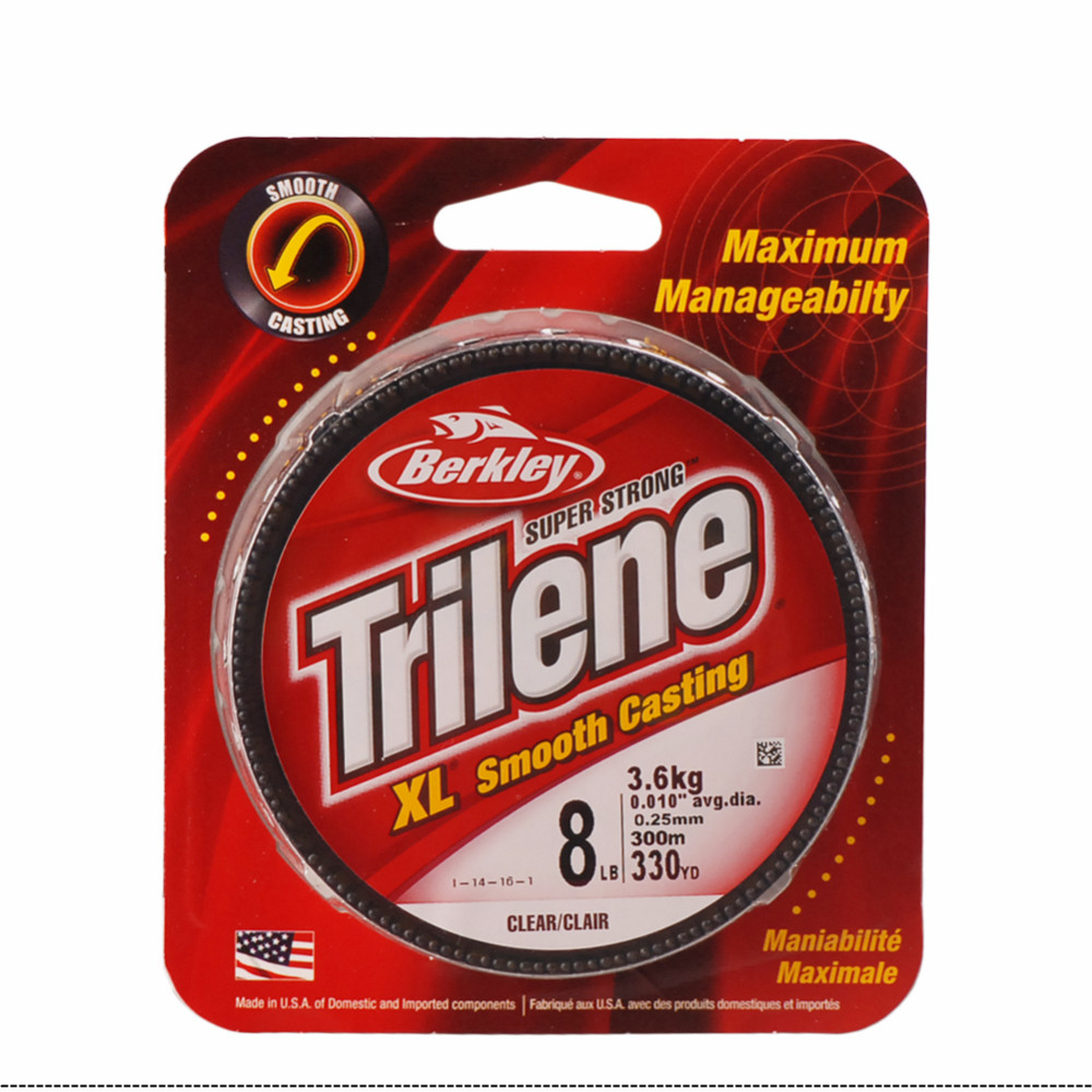 Original Berkley Brand 330yd Trilene XL Fishing Line Monofilament Fishing  Line 4lb 6lb 8lb Multifilament Fishing Lines