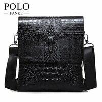 2016 NEW Vertical High Quality Leather Men Bag Business Casual Alligator Shoulder Bag Messenger Bag Crocodile