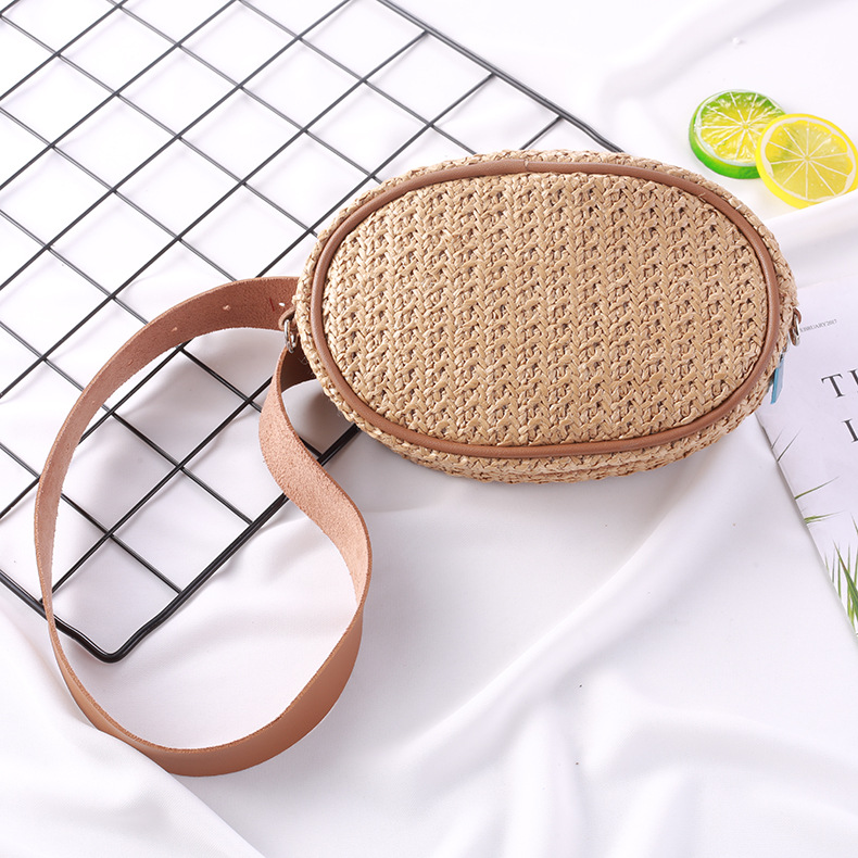 2019 Small Bohemian Straw Bags For Women Waist Bag Beach Handbags Summer Vintage Rattan Belt Bag Handmade Travel Bags Fanny Pack