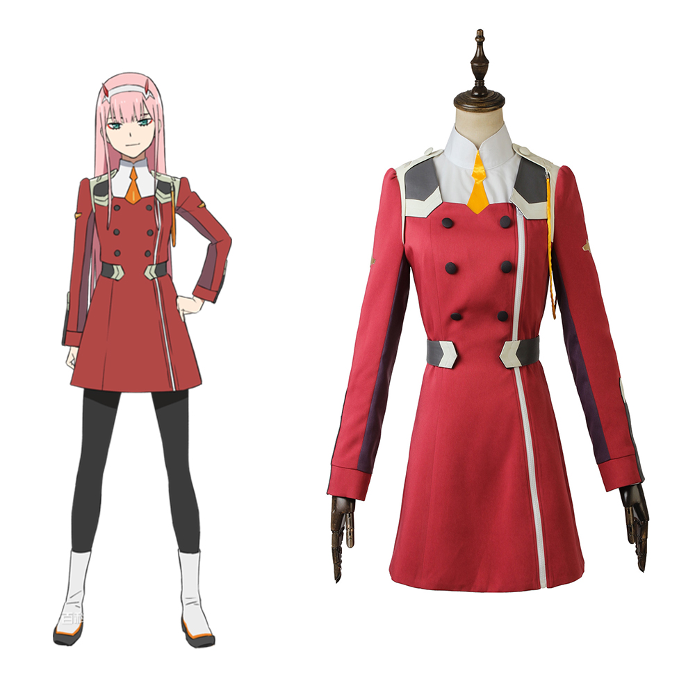 Cosplaydiy Custom Made Anime DARLING in the FRANXX ZERO TWO Costume Dress Girls Women School Dress Lolita Costume L320