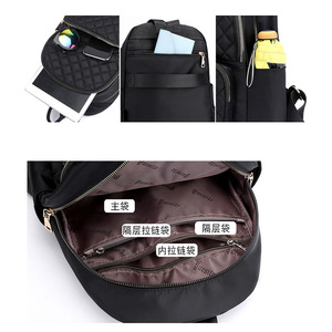 Image 5 - Female Backpack Preppy Style Nylon Women Backpack High Quality waterproof Shoulder Bags teenager Student Bag for girls bags