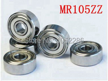 100pcs/lot   MR105ZZ  miniature bearing MR105  MR105-2Z shielded  deep groove ball bearings 5x10x4 mm