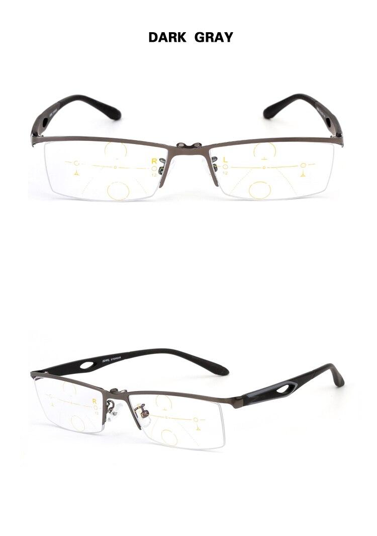 14e3a3369b Marca Chashma Verifocal gafas hombres medio marco imán óptico gafas  progresivos lentes de lectura con Clips magnéticos. xq xj Size 1 YS1. FQA  para lentes de ...