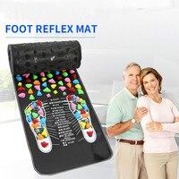 Reflexology Stone Foot Acupressure Massage Mat Pain Relief Feet Walk Massager Walk Stone Foot Massage Mat Pad Foot Spa Massager