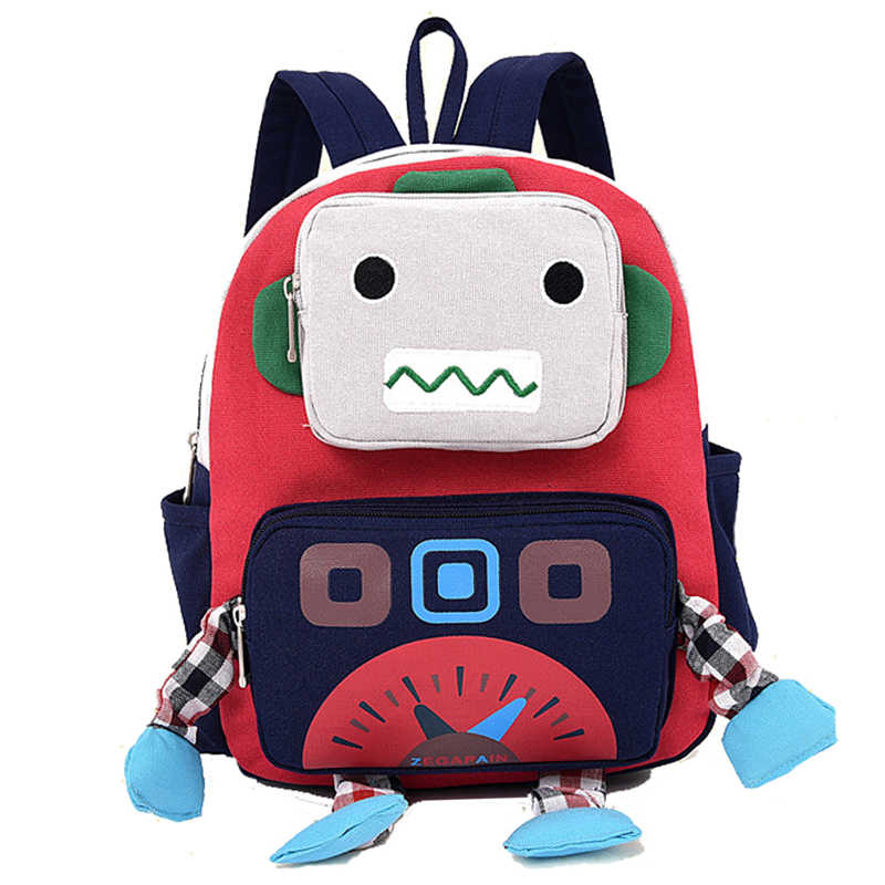 Cartoon 3D Robot Shape Kid Backpacks Baby Child Cute Toddler School Travel  Bag Kindergarten Cool Boys 984ecc7fd2017