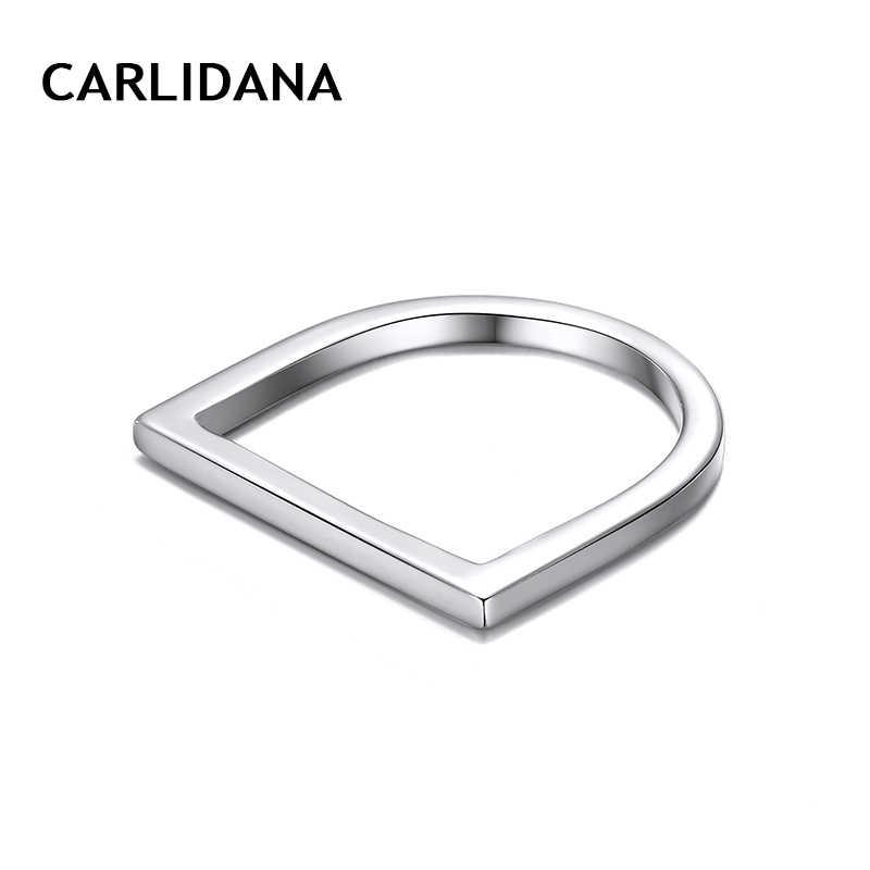 CARLIDANA Cool Punk แหวนสแตนเลสสำหรับผู้หญิงผู้หญิง Minimalist Kpop กลางแหวนแฟชั่น 2019 ผู้หญิงเครื่องประดับ
