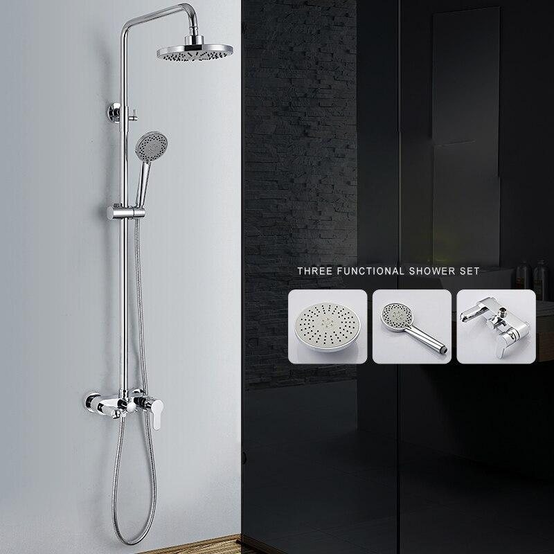 Ванная комната набор для душа латунь хром Настенный смеситель для душа 8 Насадки для душа экономии воды сопла аэратор Высокая Давление набо