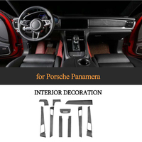 For Porsche Panamera 971 2017 19 100% Real Carbon Fiber Interior Dashboard Trim Door Handle Armrest Cover Car Styling LHD