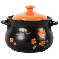 3L Enameled Ceramic Soup Pos Colorful Lid Casserole Cocotte Ceramique Stewing Ceramic Cooking Pot Free Express