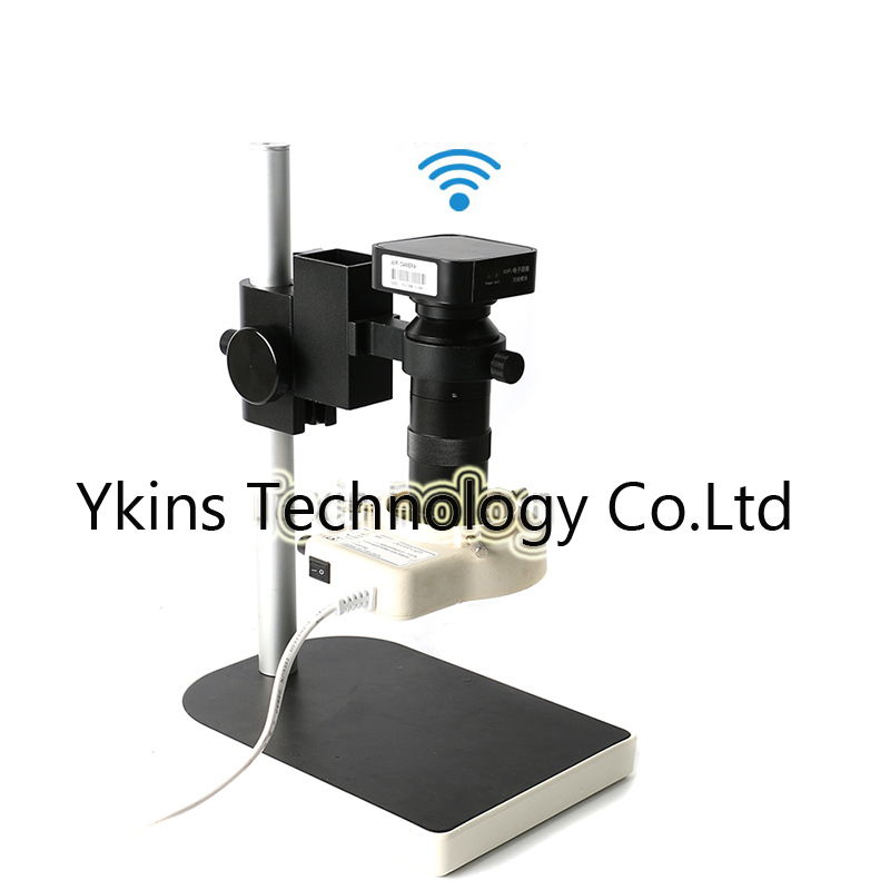 130X USB WIFI wireless outputs Industry Microscope Camera +56 Led light lamp +adjustable stand table for phone electronic repair-in Microscopes from Tools    1