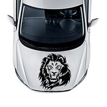 Free shipping Lion Car Stickers Funny Vinyl Decal For Rearview Mirror Cars Head Engine Cover Windows Decoration Removable(China)