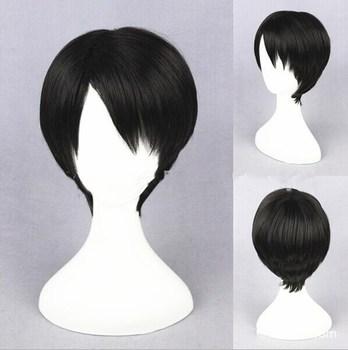 Shingeki no Kyojin Levi Ackerman косплей парик короткие волосы ролевые игры на Хэллоуин Rivai Ackerman Cos >> Gocosplay56 Store