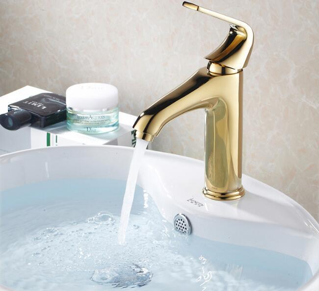 HIgh quality Bathroom hot and cold water Basin Sink Faucet Mixer Tap toilet bath faucet golden handle washbasin taps accessoriesHIgh quality Bathroom hot and cold water Basin Sink Faucet Mixer Tap toilet bath faucet golden handle washbasin taps accessories