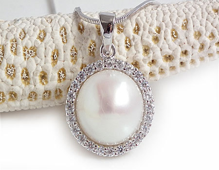 Jansun 11-12mm Freshwater Pearls 100% Guaranteed Natural Pearls Silver 925 Pendant yh48002