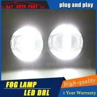JGRT Car Styling Angel Eye Fog Lamp for Citroen triumph LED DRL Daytime Running Light High Low Beam Fog Automobile Accessories