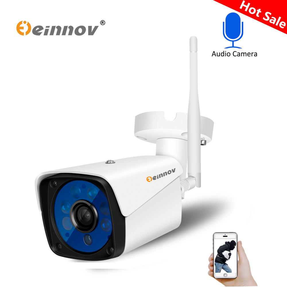 Einnov Enregistrement Audio 1080 P 2MP Wifi ip Caméra Extérieure Sans Fil Home Security SD Slot construit dans P2P Alerte Email RTSP FTP Cam P2P